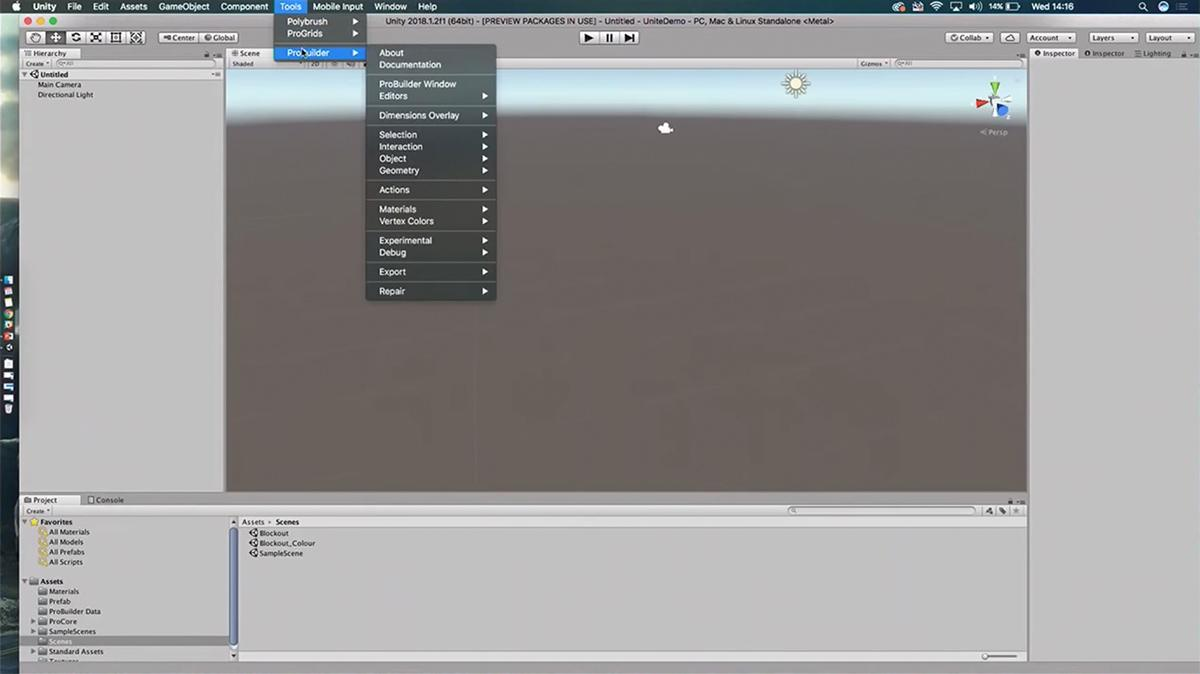 Fast worldbuilding with ProBuilder - Unity