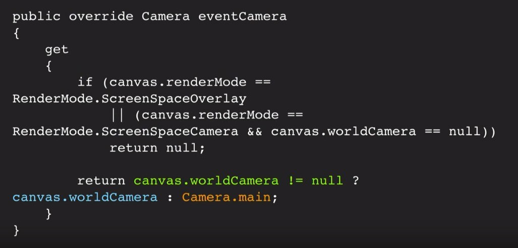 Unity UI optimization tips camera main property