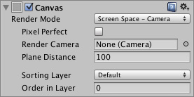 Unity UI optimization tips screen space camera