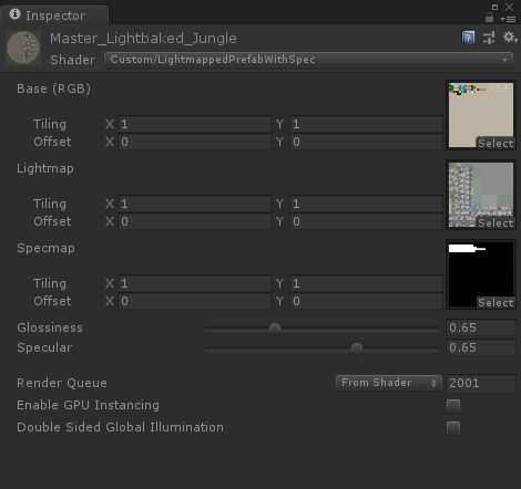 Unity light baked prefabs for mobile Material setup MetalPopGames