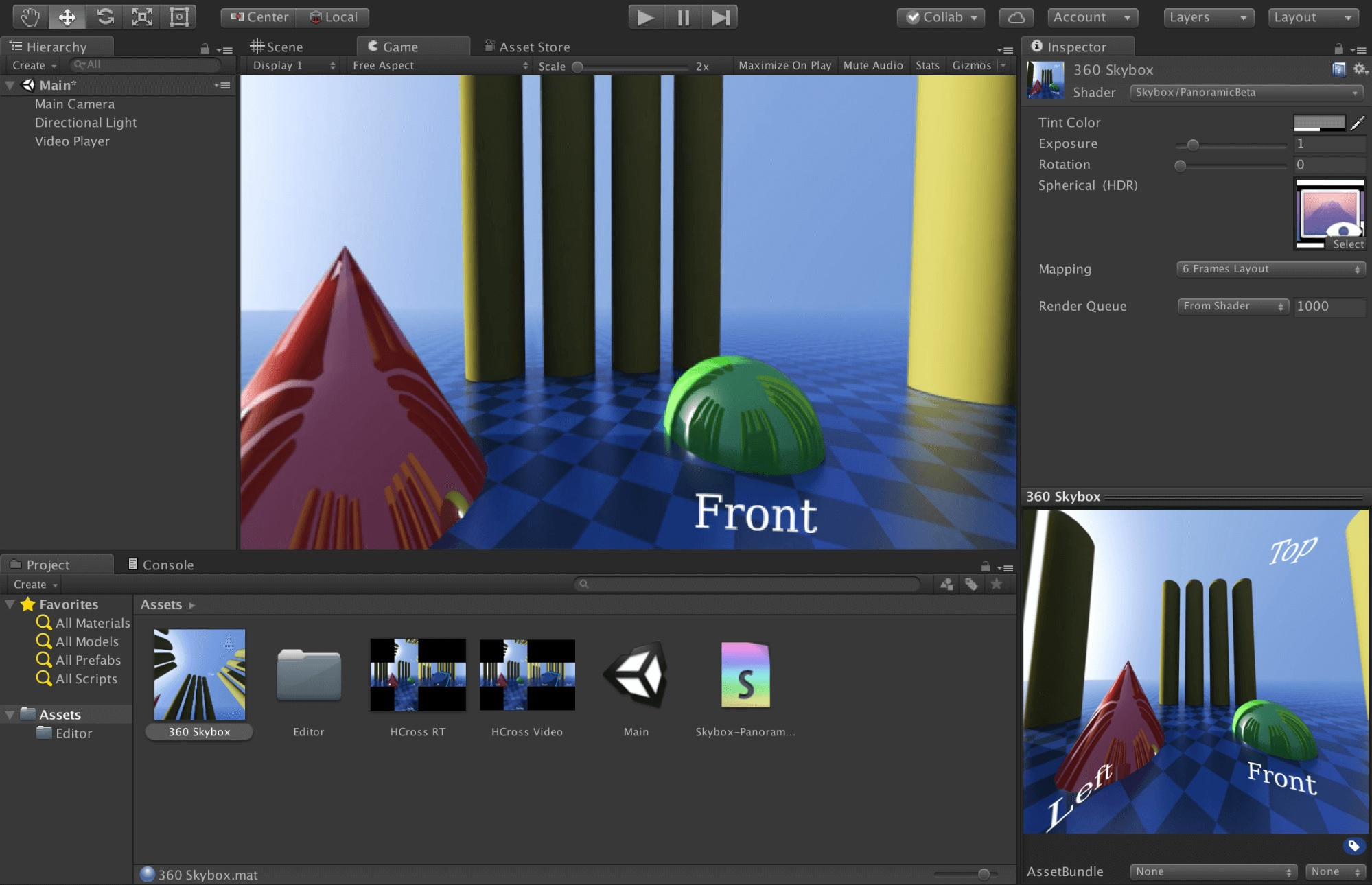 Unity native video 360 and VR