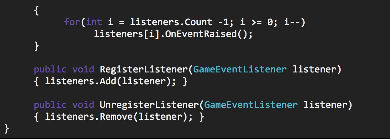 Unity scriptable object game event listener