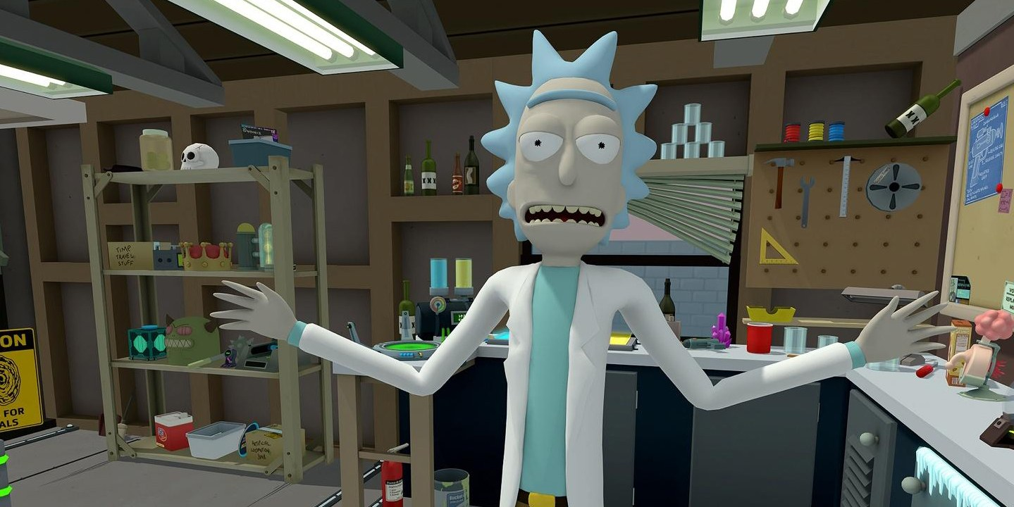 rick and morty virtual rick-ality made with unity