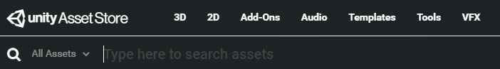 Unity Asset Store categories