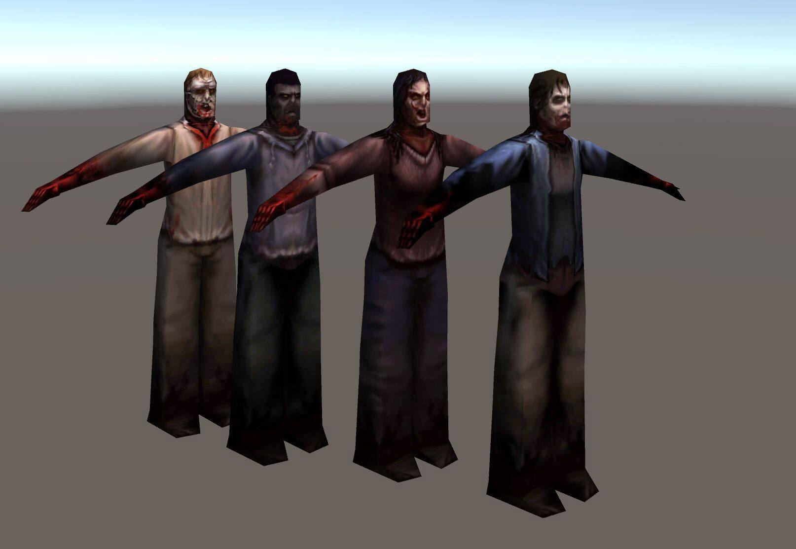 unity walking dead mesh flipbooks animate characters