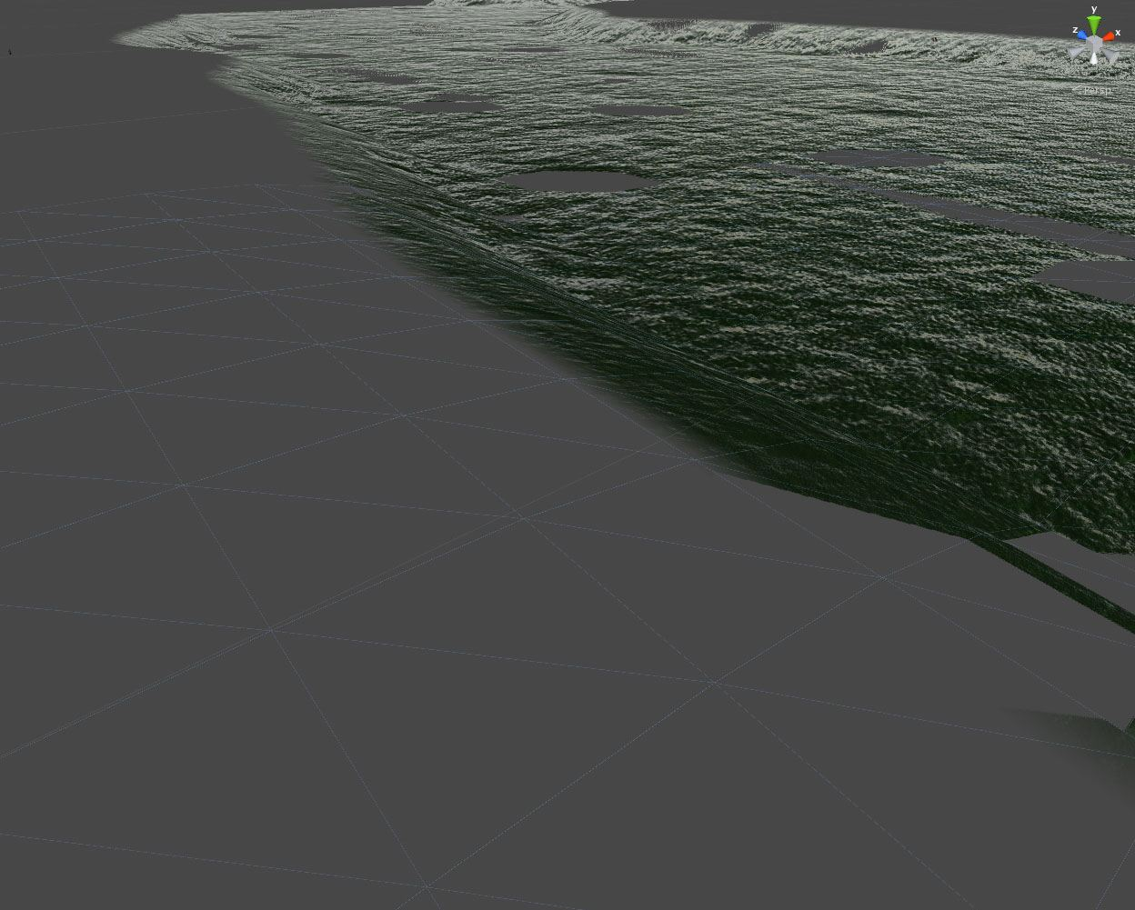 unity walking dead terrain mesh for water