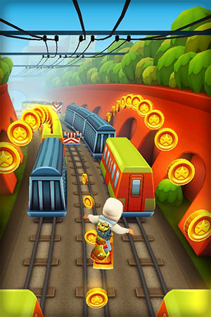 and Kiloo Games collaborate on iOS endless runner, Subway Surfers