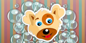 Puppy in Bubble