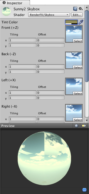 how to make skybox in unity